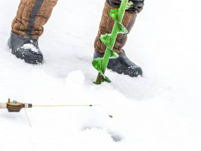 cordless drill ice auger